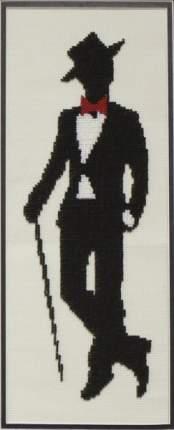 Набор для частичного вышивания бисером Империя бисера ИБ-131 Мистер Луи 13х36 см