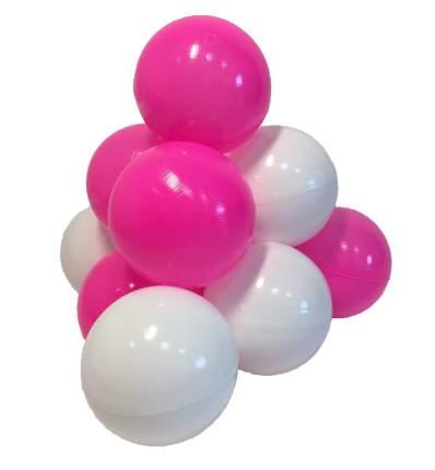 Комплект шариков Карамелька (50шт: розов и белый) для сухого бассейна