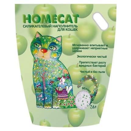 Наполнитель HOMECAT Яблоко впитывающий 7.6 л 3.5 кг силикагелевый
