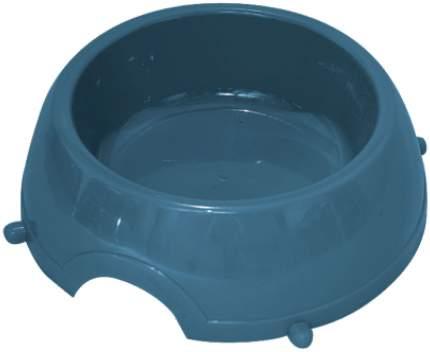 Одинарная миска для кошек и собак Зооник, пластик, синий, 1 л