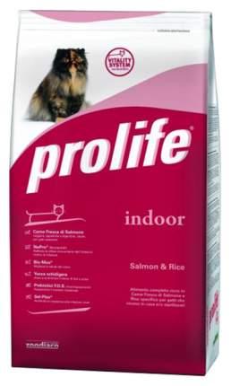 Сухой корм для кошек Prolife Indoor, для домашних, лосось и рис, 0,4кг