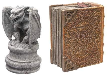 Декорация для аквариума Hydor Гаргулия+Волшебная книга, полиэфирная смола, 16,1х14х14 см