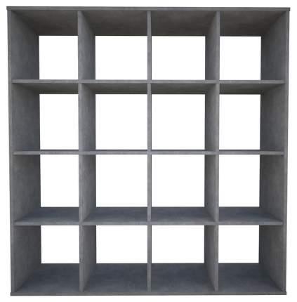 Стеллаж Polini Home Smart Кубический 16 секции бетон