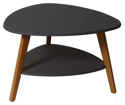 Журнальный столик Мебелик Бруклин 578 77х78х50 см, графит/дуб светлый