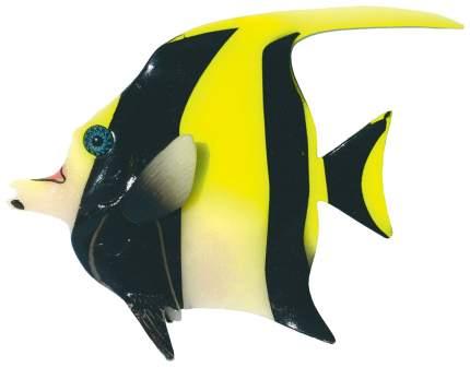 Декорация для аквариума JELLY-FISH Мавританская рыбка светящаяся, желтая, 16х13х2,2 см