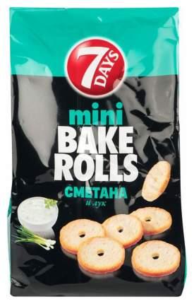 Мини сухарики пшеничные 7 Days bake rolls  сметана и лук 80 г