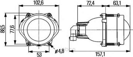 Основная фара 12v Hella 1BL998570-001