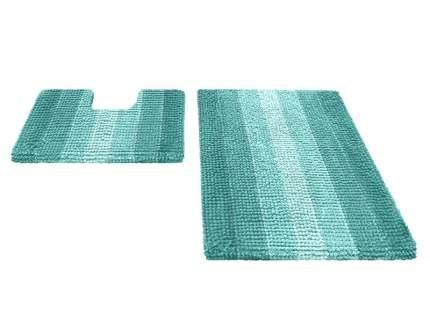 Набор ковриков для ванной MULTIMAKARON бирюзовый, SHAHINTEX