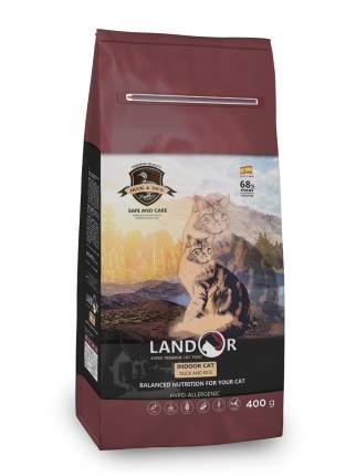 Сухой корм для кошек Landor Indoor Cat, для домашних, утка, 0,4кг