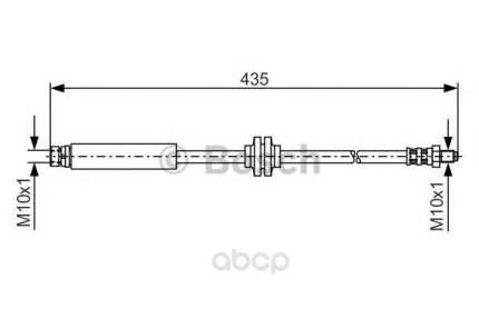 Шланг тормозной системы Bosch 1987481373 задний