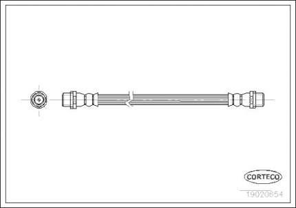 Шланг тормозной CORTECO 19020654