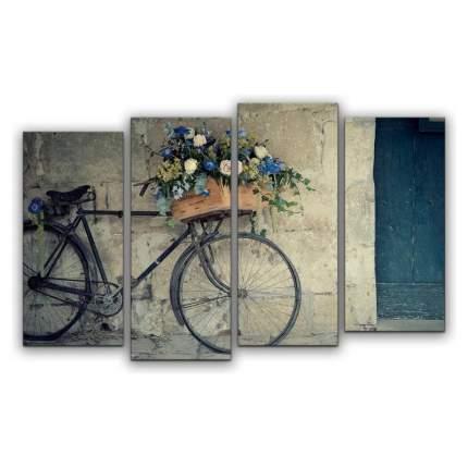 Картина КАРТИНОМАНИЯ Велосипед флориста АРТ-М749 120x77