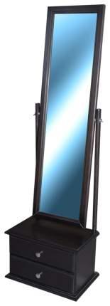 Зеркало настенное Мебелик 344 34х118 см, венге