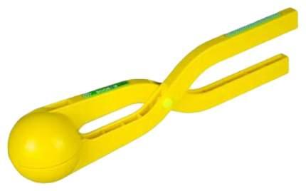 Игрушка для лепки снежков Staleks ACTIVE прорезиненная ручка, желтый