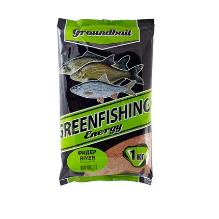 Прикормка Green Fishing Energy Фидер River 1 кг