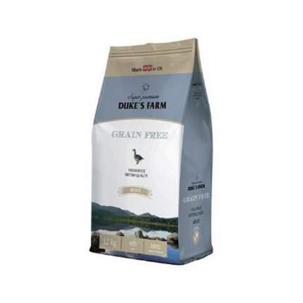 Сухой корм для собак DUKE'S FARM Grain Free Adult, утка, овощи, 12кг