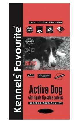 Сухой корм для собак Kennels Favourite Active Dog, для активных, птица, 20кг