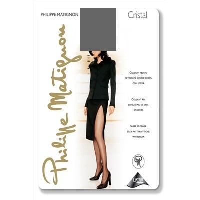 Колготки Philippe Matignon CRISTAL 30 / Platino (Темно-серый) / 4 (L)