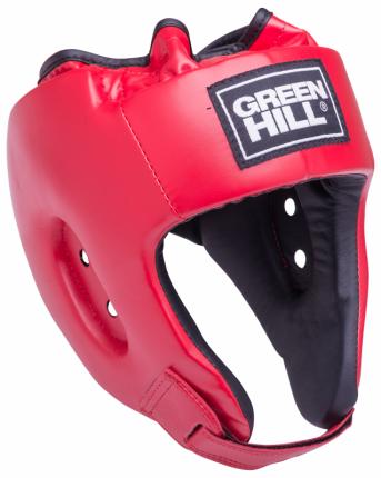 Шлем Green Hill открытый Alfa HGA-4014, кожзам, красный (XL)