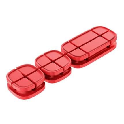 Держатель Baseus Cross Peas Cable Clip Red