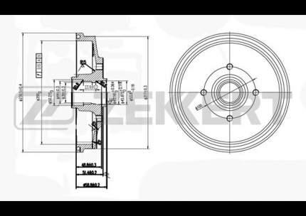 Тормозной барабан ZEKKERT BS-5189