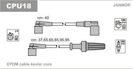 Комплект проводов зажигания JANMOR CPU18