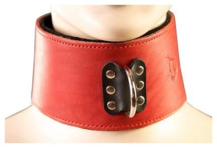 Ошейник Podium кожаный на мягкой подкладке красный