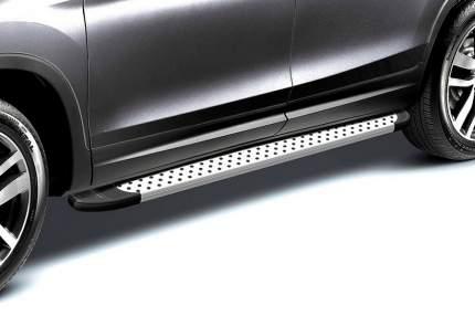 Комплект алюминиевых порогов Arbori Standart Silver 1600 для Land Cruiser Prado 2014-2017