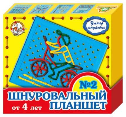 Развивающая игрушка Десятое Королевство Шнуровальный планшет-2 00091ДК