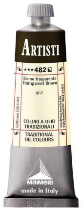 Масляная краска Maimeri Artisti коричневый прозрачный 40 мл