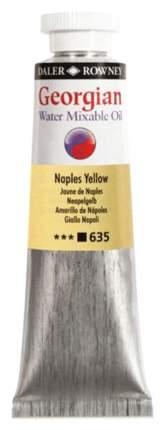 Масляная водорастворимая краска Daler Rowney Georgian неаполитанский желтый 37 мл