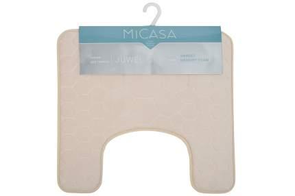 Коврик для туалета 50х50 см MiCasa Juwel бежевый