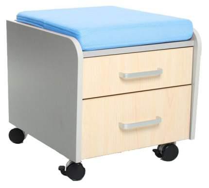 Тумбочка Comf-Pro BD-C2 (цвет обивки: голубой, цвет каркаса: серый, цвет товара: клен)