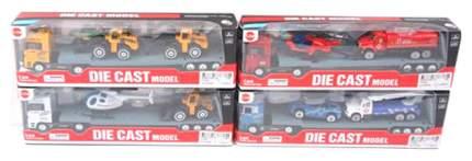 Наборы игрушечного транспорта Shantou Металлический трейлер со спецтехникой
