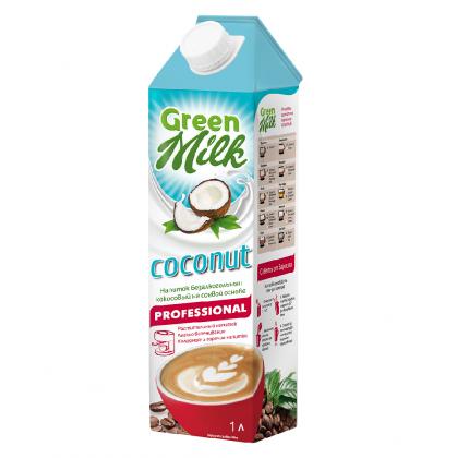 Напиток б/а Green Milk professional из растительного сырья на соевой основе kokos 1 л
