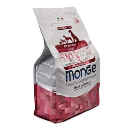 Сухой корм для собак Monge Monoprotein All Breeds, все породы, говядина, рис, 12кг