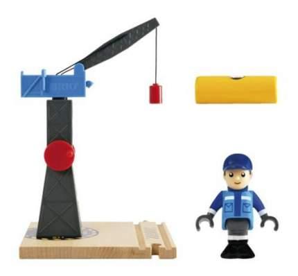 Башенный подъёмный кран деревянной железной дороги Brio 33320