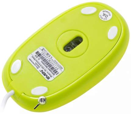 Проводная мышка Sven rX-555 Silent Green