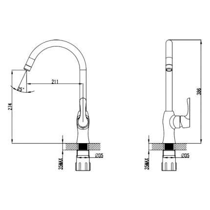 Смеситель для кухонной мойки SmartSant Смарт-Галант SM223501AA хром