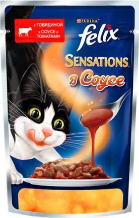 Влажный корм для кошек Felix Sensation, говядина, овощи, 85г