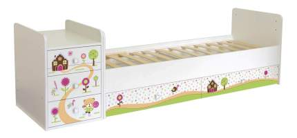 Кровать-трансформер Simple 1100 Пряничный домик белый Polini