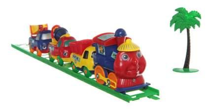 Железная дорога с паровозом и вагонами Play Train Gratwest Б13156