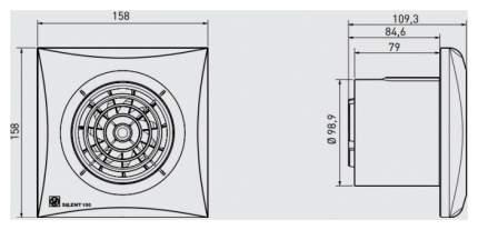 Вентилятор вытяжной Soler&Palau Silent-100 CHZ 03-0103-121