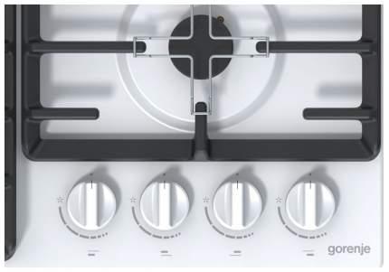 Встраиваемая варочная панель газовая Gorenje GW641ZW White
