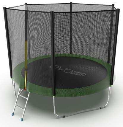 Батут Evo Fitness Jump External с сеткой и лестницей 305 см, green