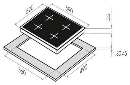 Встраиваемая варочная панель индукционная MAUNFELD EVI.594.FL2(S)-GR Grey