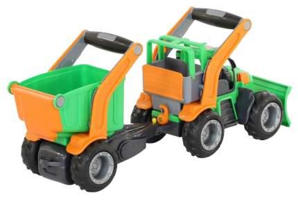 ГрипТрак трактор Wader снегоуборочный с полуприцепом
