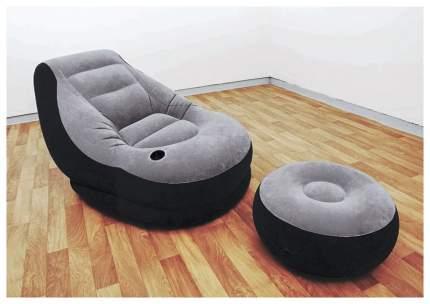 Надувное кресло Intex Ultra Lounge с пуфиком 68564