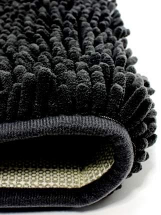 Коврик NEW microfibe  Люкс (черный) для туалета