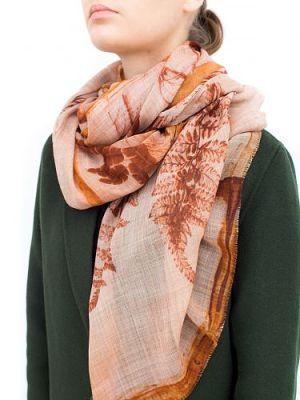 Палантин женский Eleganzza J43-13747 коричневый